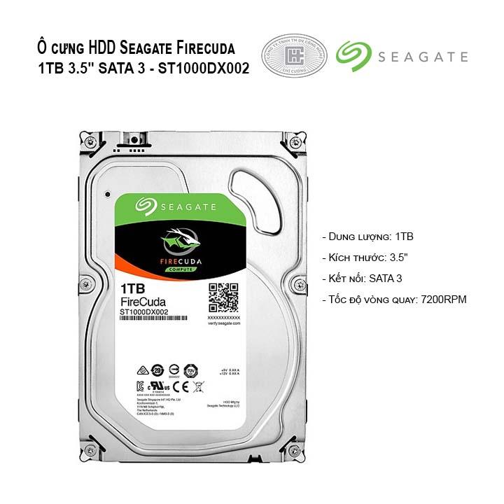 Ổ cứng HDD Seagate Firecuda 1TB 3.5
