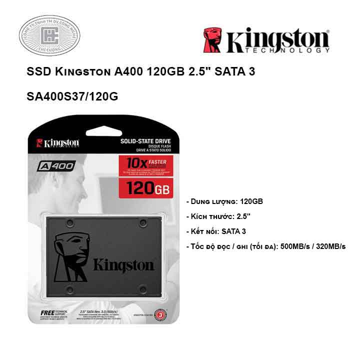 Ổ cứng SSD Kingston A400 120GB 2.5