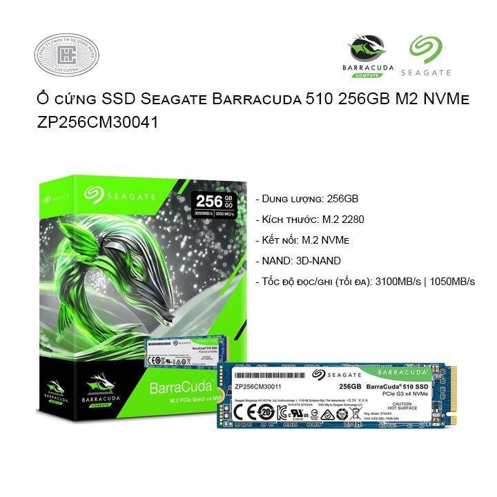 Ổ cứng SSD Seagate Barracuda 510 256GB M2 NVMe (ZP256CM30041)