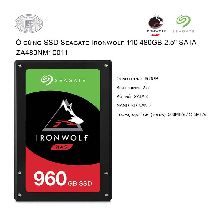 Ổ cứng SSD Seagate Ironwolf 110 960GB 2.5