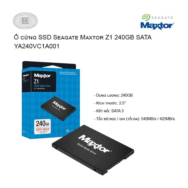 Ổ cứng SSD Seagate Maxtor Z1 240GB 2.5