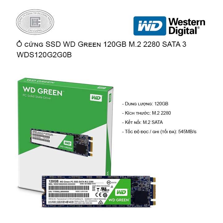 Ổ cứng SSD Western Digital Green 120GB M.2 2280 SATA 3 - WDS120G2G0B