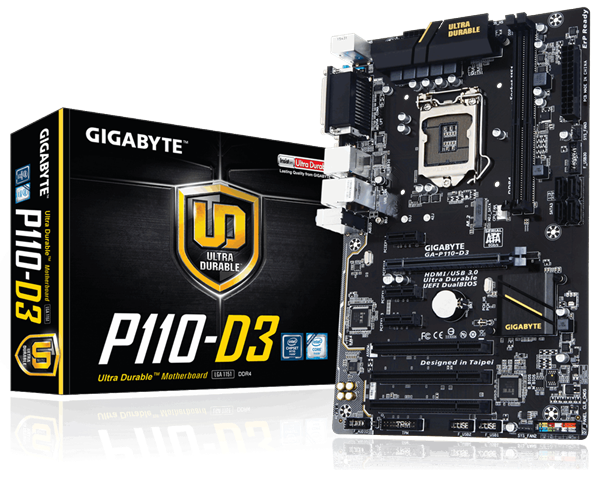 Mainboard GIGABYTE™ GA P110-D3 (VGA rời)