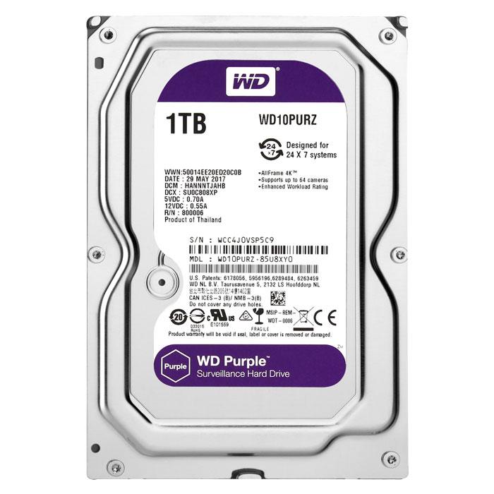 HDD WD Purple 1TB - WD10PURZ
