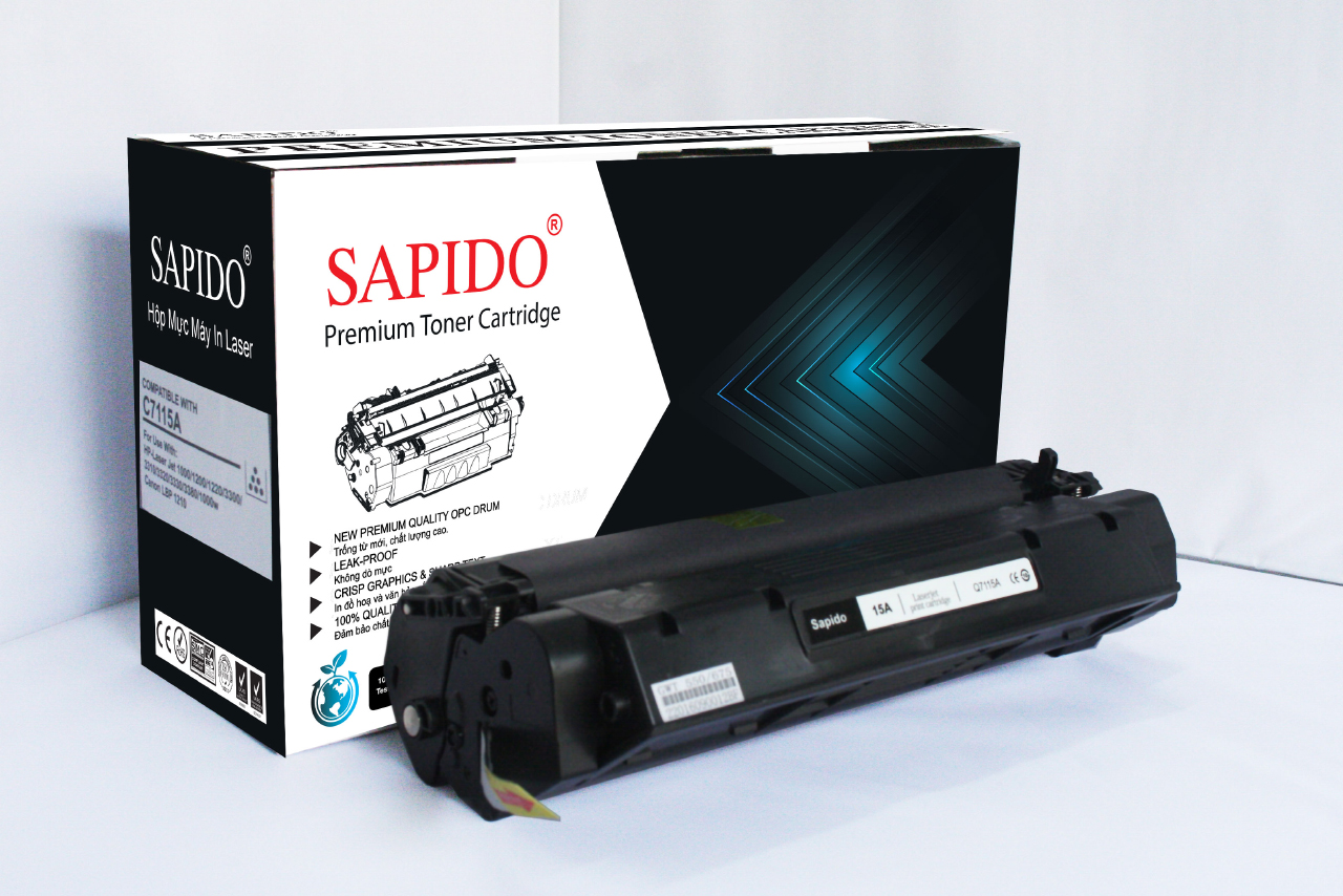 MỰC SAPIDO Model 15A  DÙNG CHO MÁY  HP 1000/1200/1220/3300/3310/3320/3330/3380/1000w Canon LBP 1210   (2,500 trang)