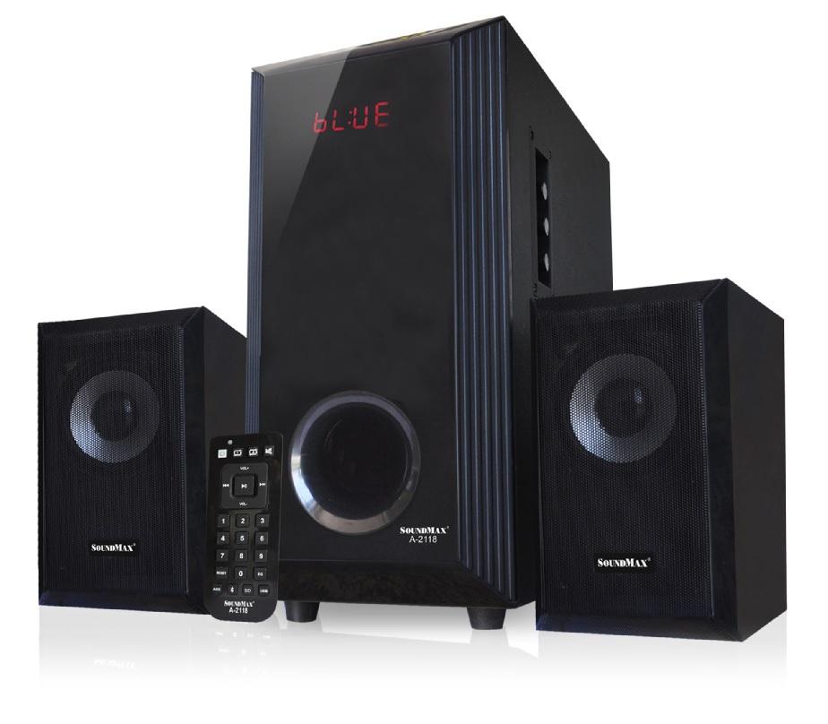 Loa Soundmax A 2118 /2.1 kênh,Bluetooth, USB, Thẻ nhớ, Remote
