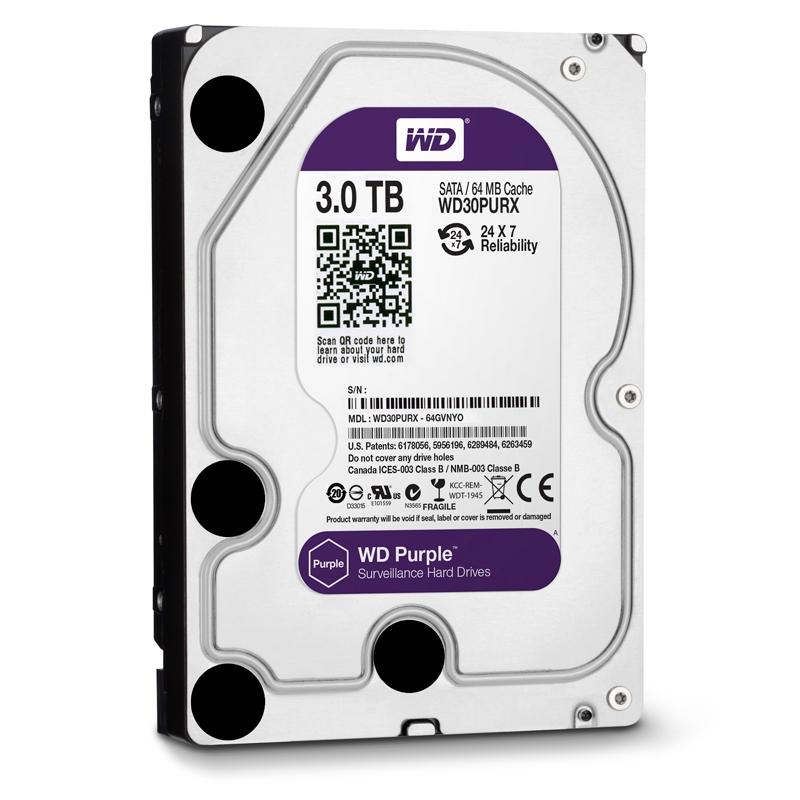 HDD WD Purple 3TB - WD30PURX/PURZ TÍM
