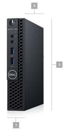 Máy Bộ Dell OptiPlex 3060 Micro 42OC360001 i3 8100T/4GB/500GB/K+M/DOS