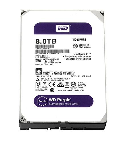 HDD WD Purple 8TB - WD80PURZ TÍM