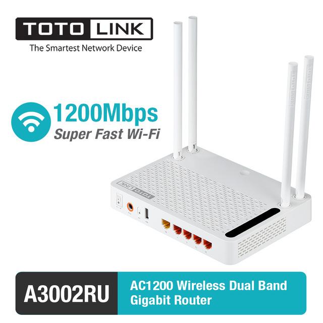 Bộ phát wifi TotoLink A3002RU - 4 anten - chuẩn AC1200