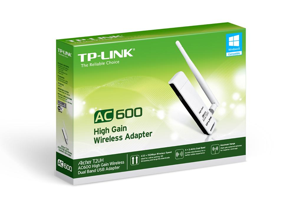 TP-LINK Wireless USB Adapter - Bộ chuyển đổi USB Không dây Băng tần kép AC600 - Archer T2UH