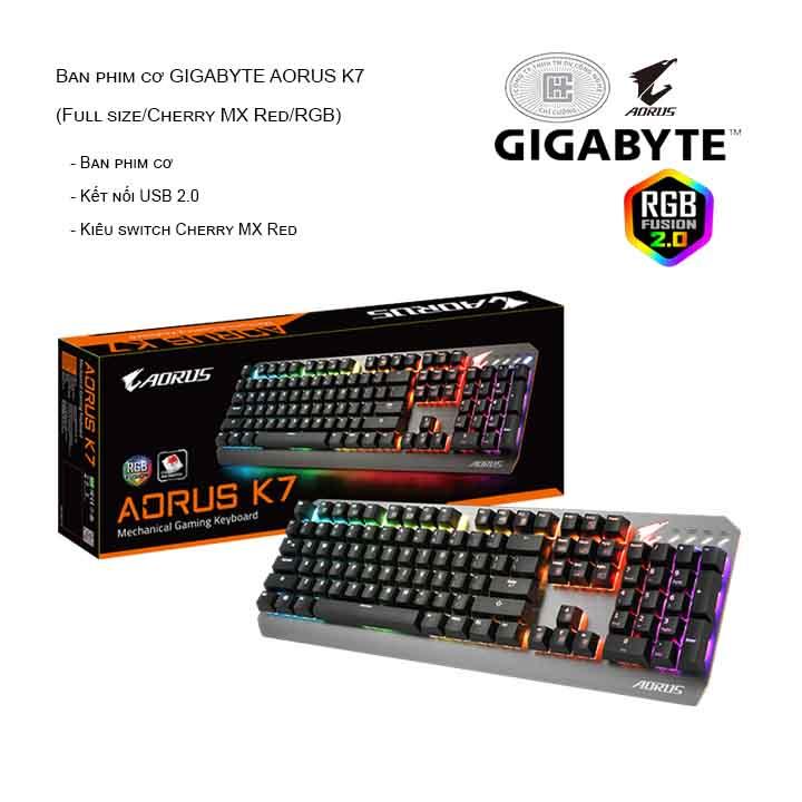 Bàn phím cơ GIGABYTE AORUS K7 (Full size/Cherry MX Red/RGB)