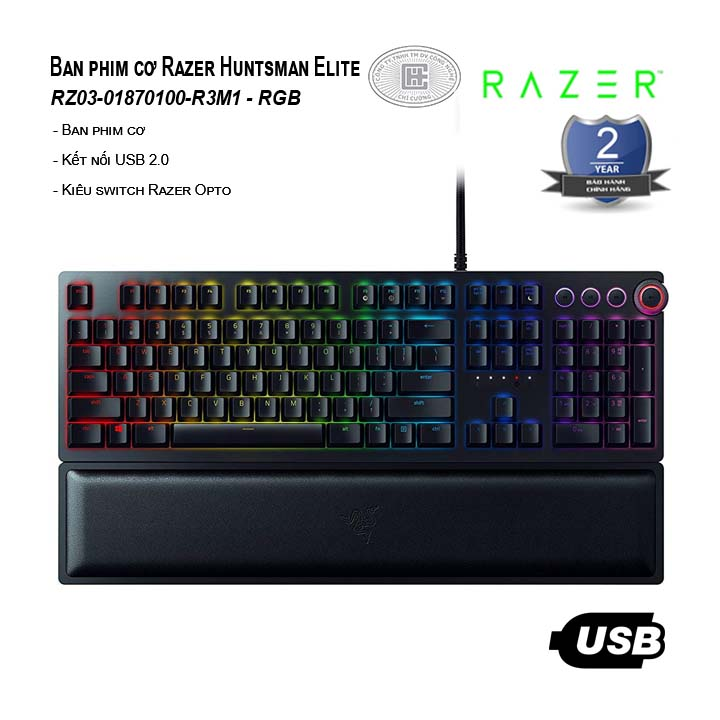 Bàn phím cơ Razer Huntsman Elite (RZ03-01870100-R3M1)