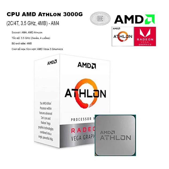 CPU AMD Athlon 3000G (2C/4T, 3.5 GHz, 4MB) - AM4