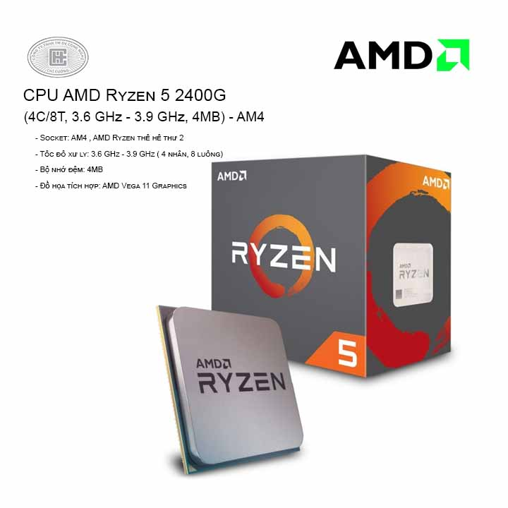 CPU AMD RYZEN 5 2400G