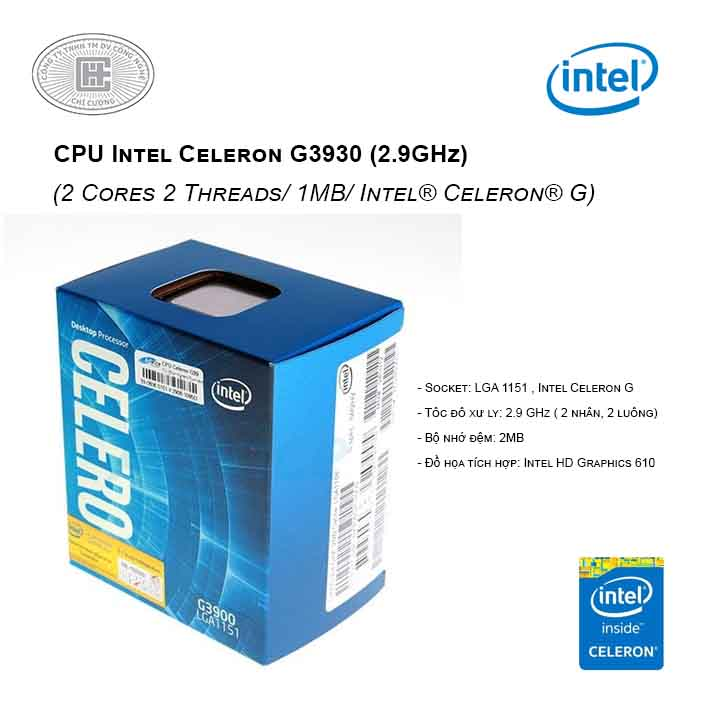 CPU Intel Celeron G3930 (2.9GHz)