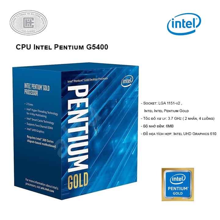 CPU Intel Pentium G5400 (2C/4T, 3.7 GHz, 4MB) - LGA 1151-v2