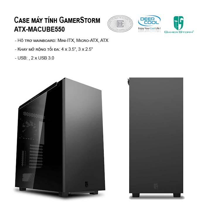 Case máy tính GAMER STORM GS-ATX-MACUBE550-BKG0P - Full Tower (Đen)