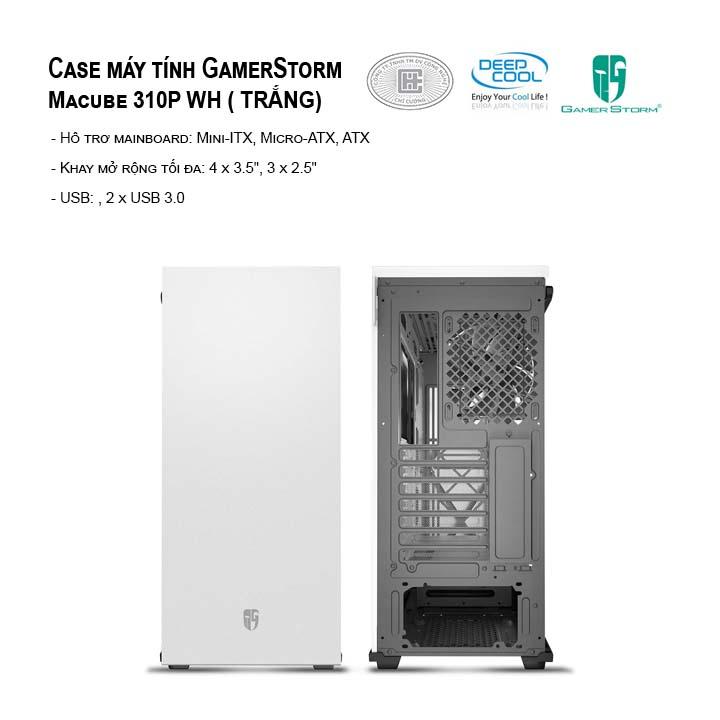 Case máy tính DEEPCOOL Macube 310P WH - Mid Tower (TRẮNG)