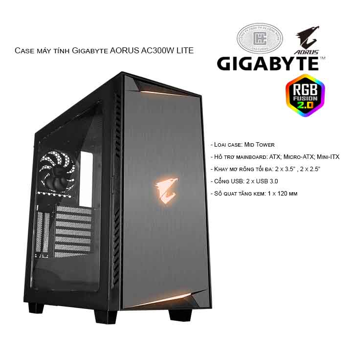 Thùng máy/ Case Gigabyte AORUS AC300W LITE