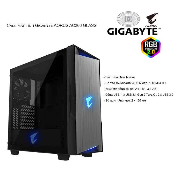 Thùng máy/ Case Gigabyte AORUS C300 GLASS (GB-AC300G)