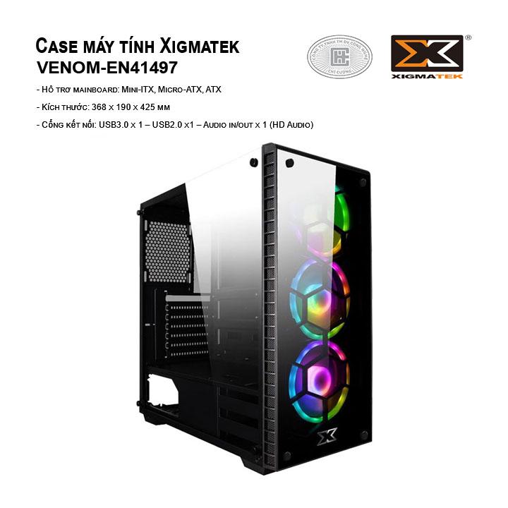Case máy tính Xigmatek Venom (EN41497) (No Fan)