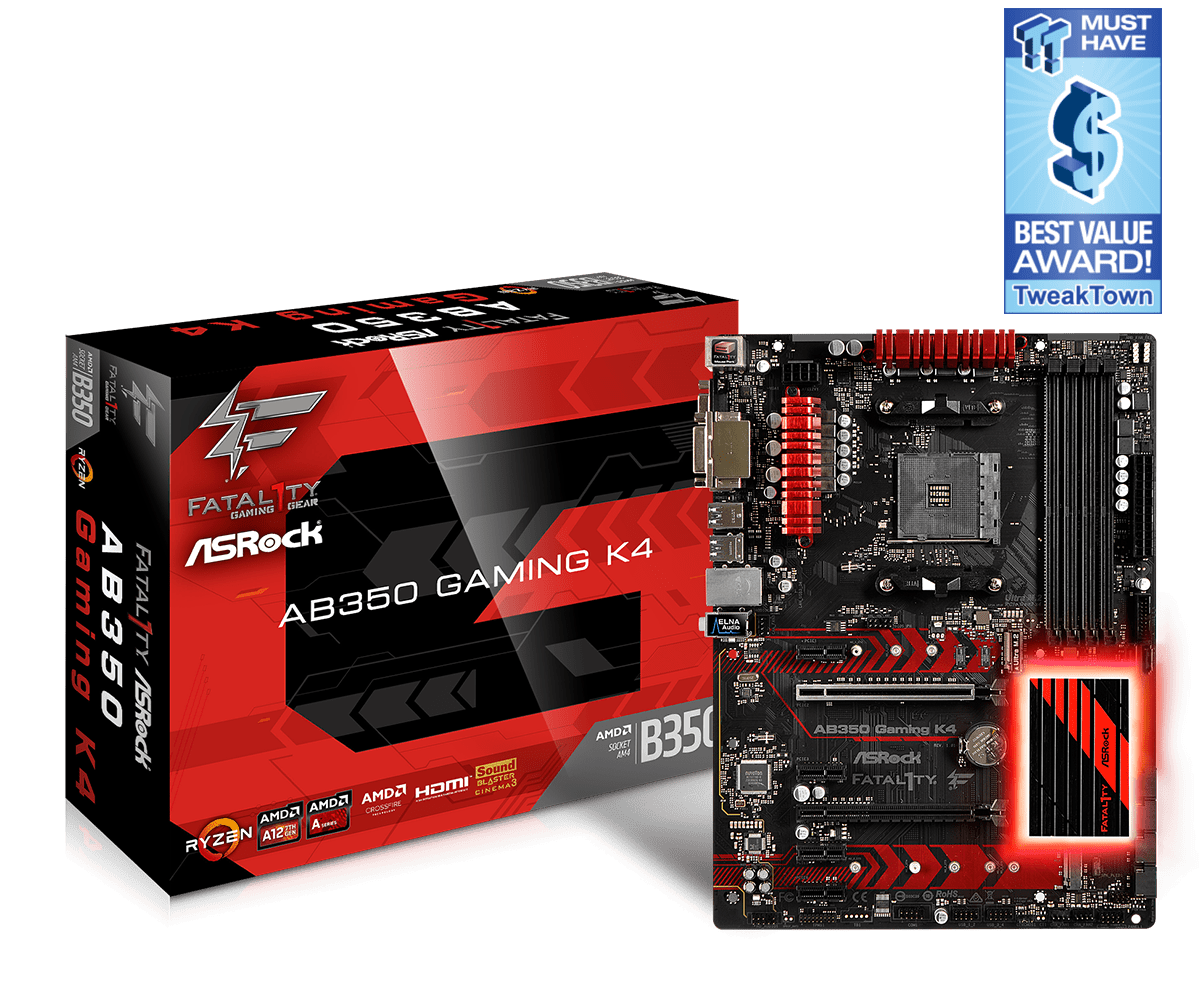 Main Asrock AB350 GAMING K4  socket AM4
