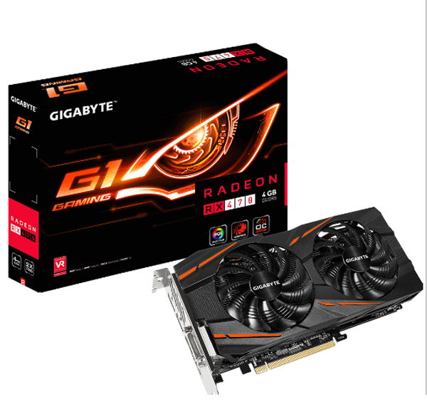 VGA GIGABYTE GV-RX470G1 GAMING-4GD - 4GB CHIP ATI
