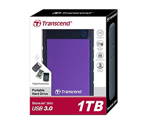 Ổ cứng gắn ngoài Transcend 1TB StoreJet2.5