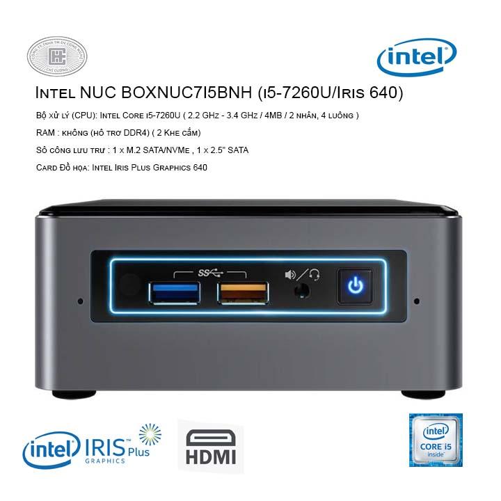 Máy tính bộ PC Intel NUC Kit BOXNUC7I5BNH (i5-7260U/Iris 640)