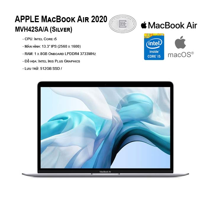 Apple Macbook Air 13.3 inch 2020 MVH42SA/A Silver (13.3