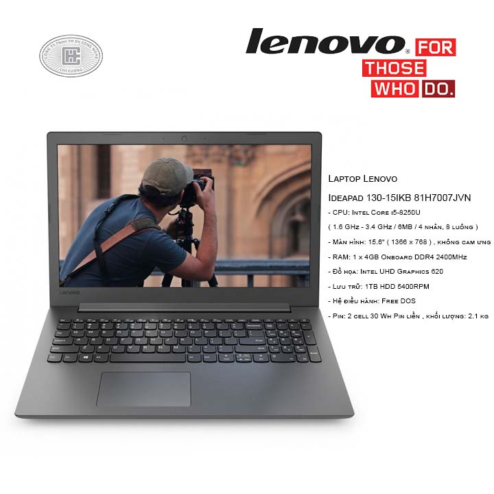 Laptop Lenovo Ideapad 130-15IKB 81H7007JVN (15.6