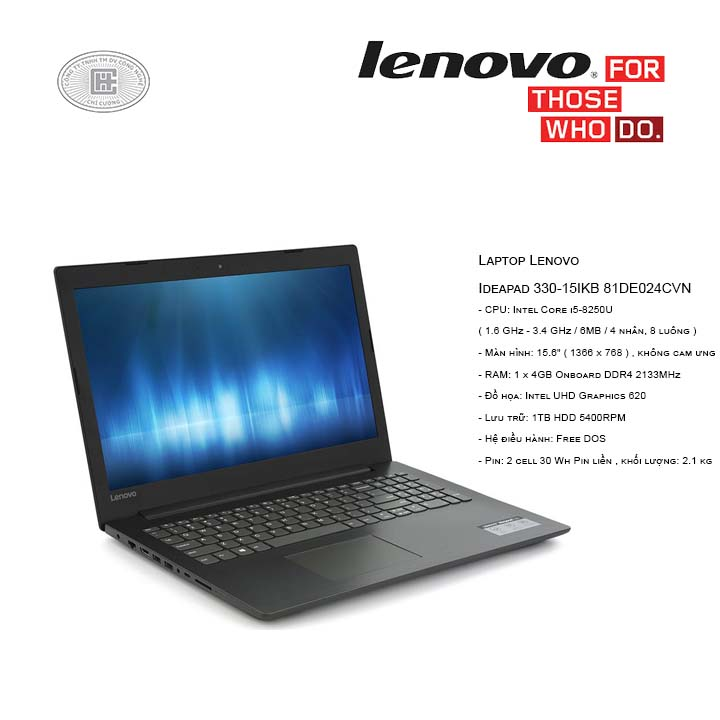 Laptop Lenovo Ideapad 330-15IKB 81DE024CVN (15.6