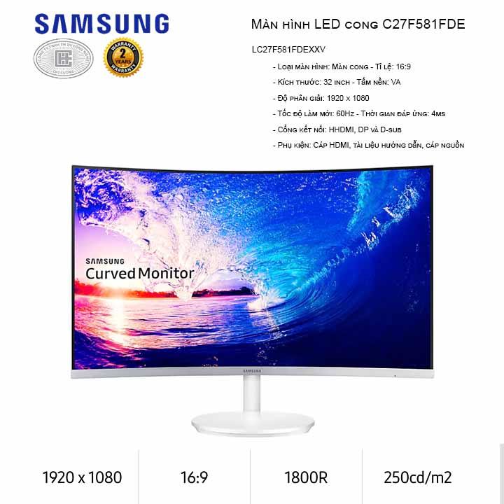Màn Hình Máy Tính Samsung LC27F581FDEXXV 27inch FullHD 4ms 60Hz FreeSync VA