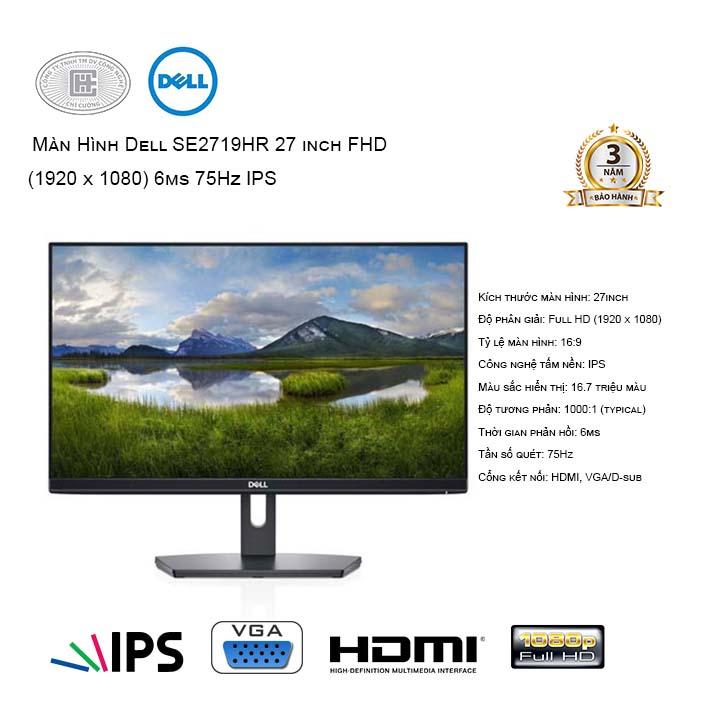 Màn hình máy tính Dell SE2719hr (1920x1080/IPS/75Hz/6ms)