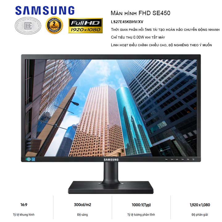 Màn Hình LCD Samsung 27 inches LS27E45UFS/XV