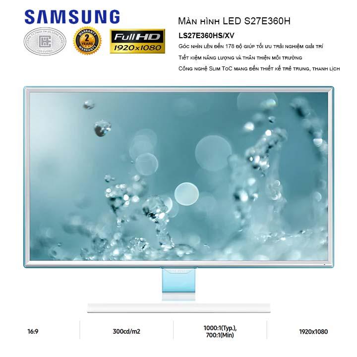Màn Hình LCD Samsung 27 inches LS27E360HS/XV