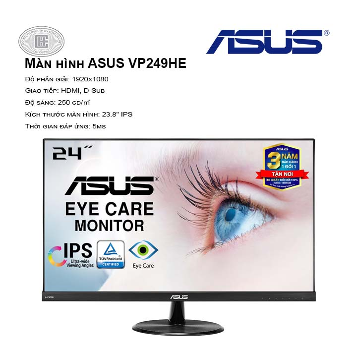 Màn hình ASUS VP249HE (FullHD/IPS/75Hz/5ms)