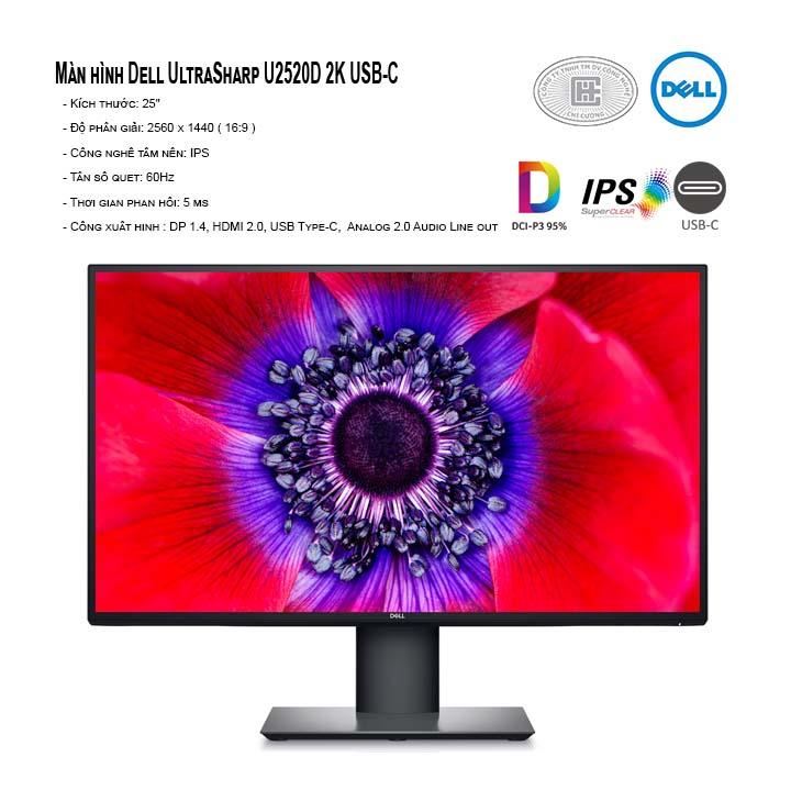 Màn hình máy tính Dell UltraSharp U2520D 25 inch QHD - usb type C