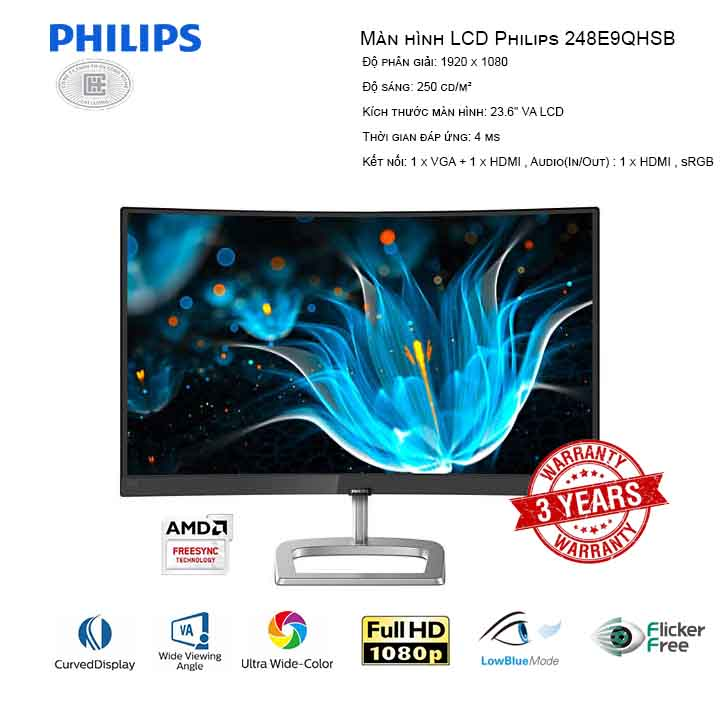 Màn hình LCD Philips 248E9QHSB