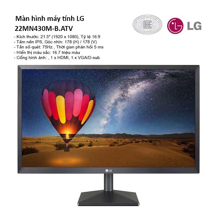 Màn hình máy tính LG 22MN430M-B 21.5'' FullHD IPS 75Hz