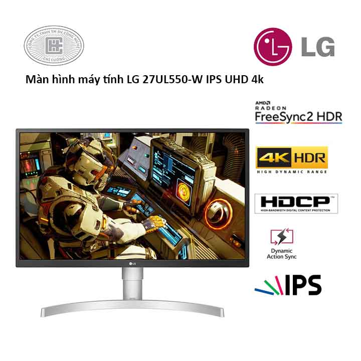 Màn Hình Máy Tính LG 27 inch 27UL550-W.ATV(4k/IPS/5ms)