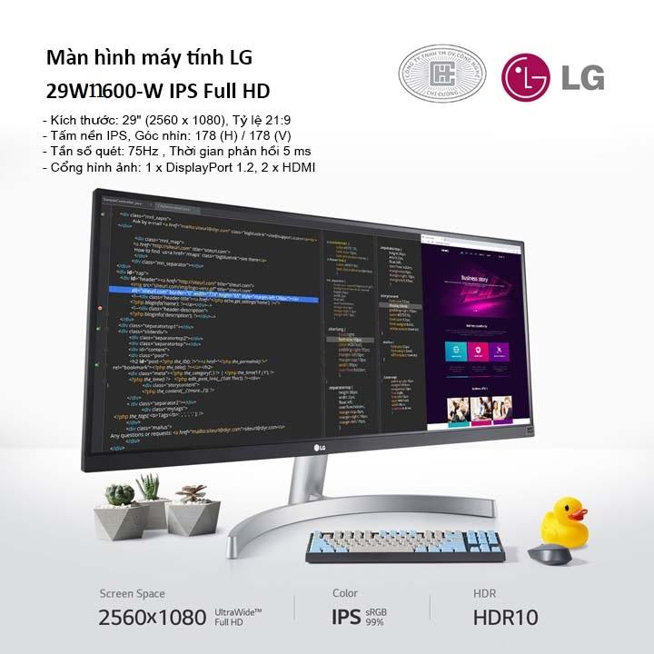 Màn hình máy tính LG 29'' Ultrawide 29WN600-W.ATV