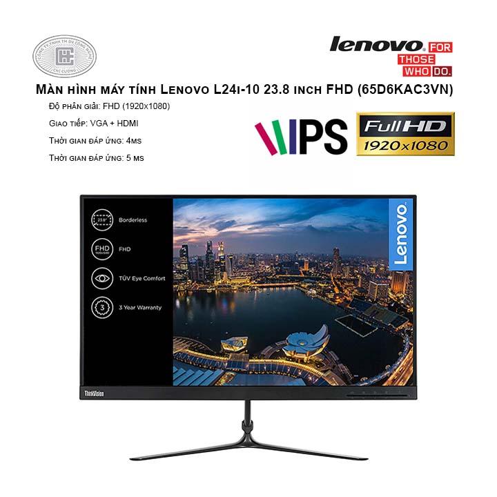 Màn hình máy tính Lenovo L24i-10 23.8 inch FHD (65D6KAC3VN)