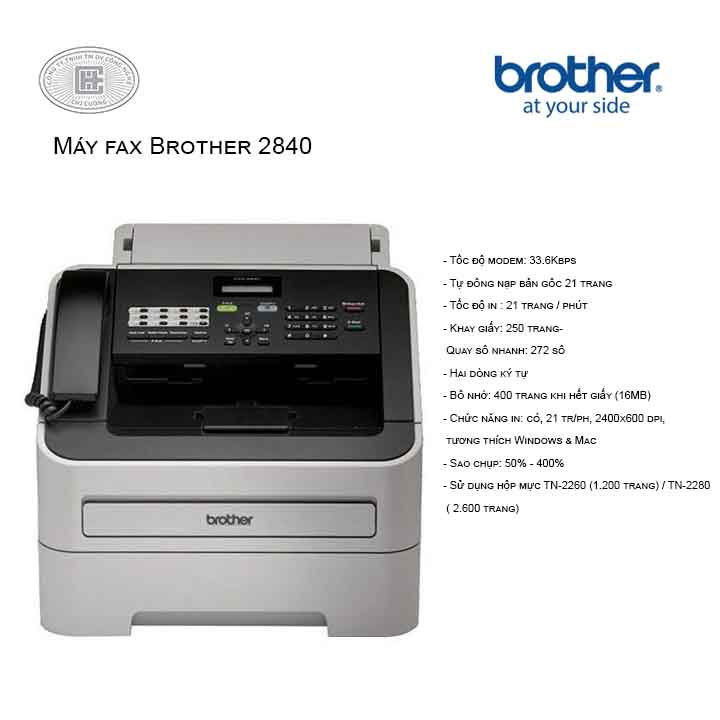 MÁY FAX BROTHER –2840