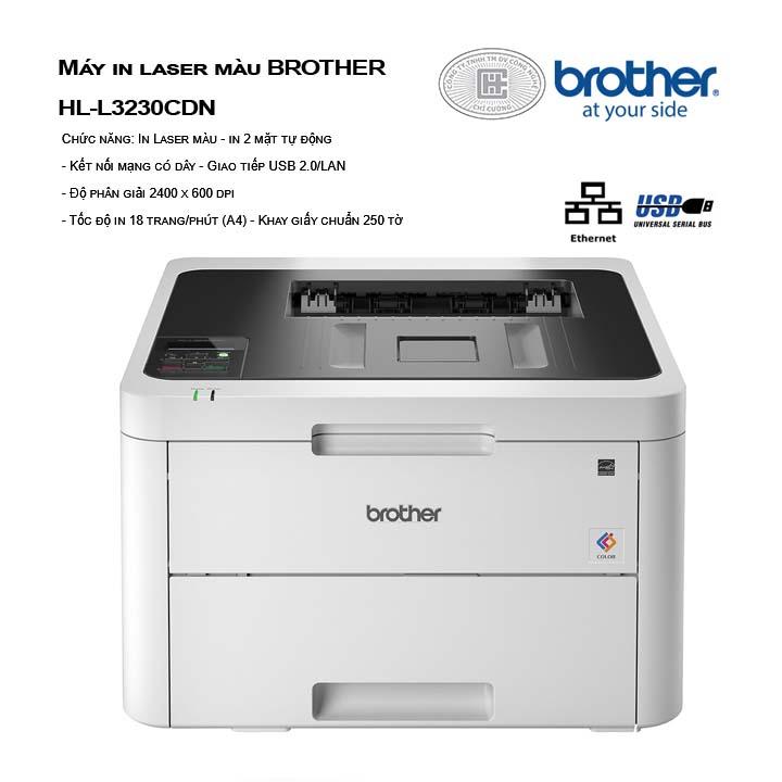 MÁY IN BROTHER LASER MÀU HL-L3230CDN