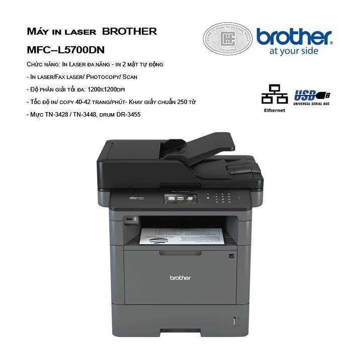 Máy in laser đa năng BROTHER MFC-L5700DN