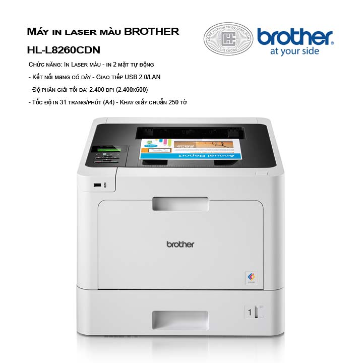 Máy in laser màu BROTHER HL-L8260CDN