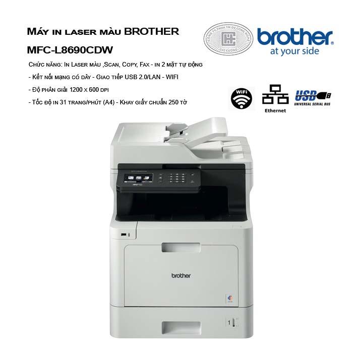 máy in laser màu đa chức năng brother MFC-L8690CDW