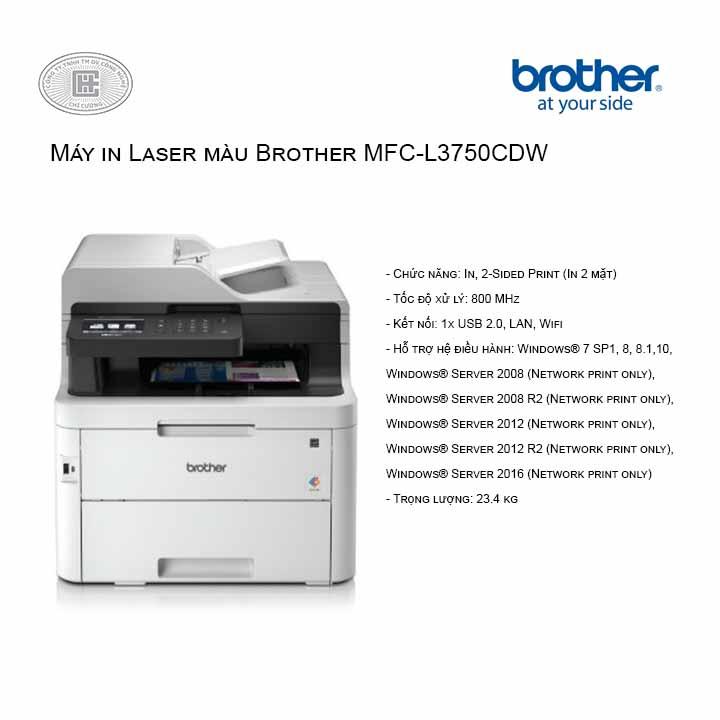 MÁY IN BROTHER LASER MÀU ĐA CHỨC NĂNG BROTHER MFC-L3750CDW
